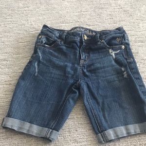 justice blue jean shorts girls